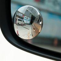 Wholesale Small Adjustable Mirrors - Auto HD boundless adjustable small round mirror blind spot mirror reversing a small round mirror wide-angle lens auto rearview mirror