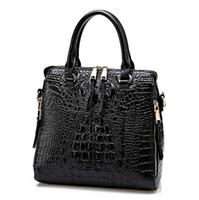Wholesale leather lash resale online - 2016 New Fashion Women Lash Package PU Leather Bags Crocodile Pattern Handbag Shoulder Crossbody Bag Clutch Bag