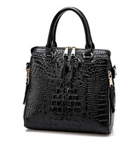 Wholesale New European Pattern - 2016 New Fashion Women Lash Package PU Leather Bags Crocodile Pattern Handbag Shoulder Crossbody Bag Clutch Bag Free Shipping