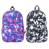 Wholesale Best Seller Bags - Nice Best Seller Preppy Style College Wind Graffiti Coconut Palm Backpack School Bag Blue and Black Fashion Bags