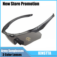 Wholesale Hunting Sunglasses - Outdoor Sports Protecting Goggles Sunglasses 3 Lens in a Zippered Hard Retail Box Eyewear For CS Battle Hiking Hunting
