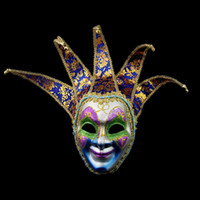 Wholesale full venetian masks resale online - HOT Novelty Party Jester Jolly Venetian Halloween Mask Venetian Masquerade Mask Color Painting Full Face Mask Costume Party Supplies