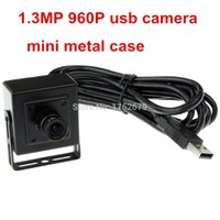 Wholesale Video Cmos Sensor Lens - 8mm lens 1.3MP MJPEG YUYV 1280 x 960 hd aluminum mini case usb video camera with AR0130 1 3 CMOS Sensor