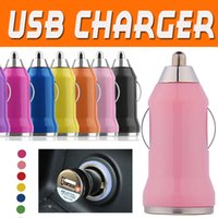 Wholesale Micro Usb Car Bullet - Micro USB Charger Car Chargers Universal Bullet Portable Adapter For iPhone X 8 7 Plus 6 6S 5 5S Samsung S8 S7 Edge Note 8 PDA MP3 MP4