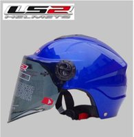 Wholesale Ls2 Helmets Uv - Wholesale-The new motorcycle helmet LS2 OF108 summer washable lining wear and UV lenses Blue Pearl S-XL