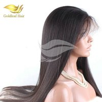 Wholesale Hair Wig Factory - Lace Front Wigs Factory Price Goldleaf Hair Full Lace Wigs With Baby Hair Straight Human hair Full Lace Wigs