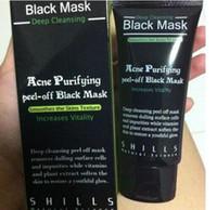 Wholesale Ladies Face Masks - lady SHILLS Deep Cleansing Black MASK 50ML Blackhead Facial Mask 200pcs