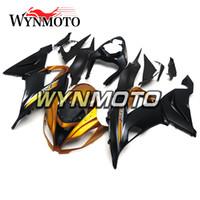 ninja 636 siyah altın toptan satış-Kawasaki ZX-6R 636 2013 2016 2014 için Enjeksiyonlar 2015 Enjeksiyon ABS Plastik Motosiklet Körükler ZX6R 13-16 14 15 Kaporta Mat Siyah Parlak Altın