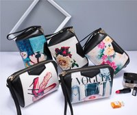 Wholesale National Pictures - New litchi pattern National style shoulder bags Cowhide leather handbags pictures printing bag crossbody bags free shipping
