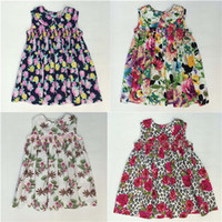 Wholesale Discounted Girls Dresses - Girls Sun Dresses 15% Discount Children Printed Flower Dress With The Little Baby Girls Clothing Girls England Style Skirt Outside Dresses