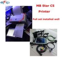 Wholesale Korea Tablets - 2017 Top MB Star C5 diagnostic Tool Full set installed ready to use MB SD C5+V2017.12 latest SSD+Xplore ix104 i7 tablet+Printer