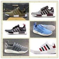 Triple Black Champs Exclusive NMD R1 Runner PK Chaussures Hommes Femmes Packer NMD R2 W Boost Trainers Baskets avec caisses Taille US5--11 Hot Sale