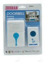 Wholesale Wireless Doorbell Lighted - ZHI SHAN House Building Wireless Digital Flashing light LED Doorbell Remote Control Chimes Music Room Office Gate Door Bell Digital Receiver