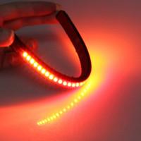 smd ışık şerit çubuğu toptan satış-SMD Motosiklet Evrensel Esnek Bar Şerit Su Direnci Kuyruk Fren Dur Dönüş Sinyali Plaka Lambası 12 V 5 W 32 LED Işık