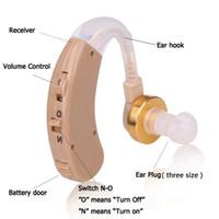 Wholesale Ear Hearing Aid Kit - New 2017 S-139 Wireless Hearing AIDS Behind The Ear Hearing Aid Kit BTE Sound Voice Amplifier Min Size Audiphone Deafness Hearing Headset