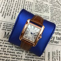 Wholesale Watch Face Sales - 2017 Hot Sale Popular Women Watches Genuine Leathe Square Dial Face Lady Wristwatch Top Brand Female clock Classic Casual Free shipping