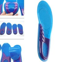 Wholesale Silicone Rubber Foot - Men Women Silicone Gel Orthotic Comfort Arch Support Massage Sport Shoe Insoles Shock Absorber Heel Arch Feet Foot Support Pad Run Pad