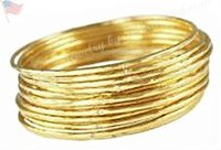 Wholesale Seven Bangles - Stack Set Seven Bangles SOLID 18K GOLD 72 grams (choice of rose, white, yellow)