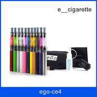 Wholesale Ego Luxury Kits - Ego CE4 atomizer starter kit e cig kit Electronic cigarette Luxury battery EGO-T kit Zipper case Clearomizer E-cigarette