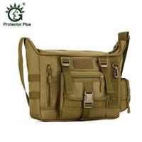 Wholesale A4 Shoulder Bags - Large Capacity A4 Tactical Bag Men waterproof Nylon Pack IPAD Satchel 14 inch Computer Handbag Shoulder Bags Purse Free Shipping