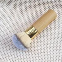 Wholesale Beauty Buffer - Tarte the buffer airbrush finish bamboo foundation brush - Quality Soft Hair Brush - Beauty Makeup Brush Blender Tools