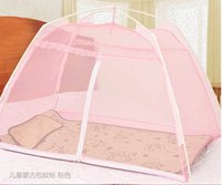 Wholesale Special offer baby mosquito net packet encryption Mongolia nets children bed nets zipper