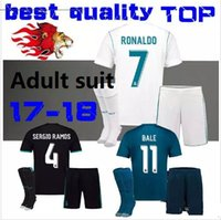 Wholesale Real Silk Shirts - 2017 2018 Player version Real madrid soccer Jerseys 17 18 CR7 RONALDO MODRIC BALE ISCO RAMOS Asensio home away 3RD Football jersey Shirt
