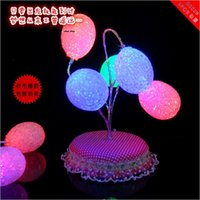 Wholesale Solid Color Plastic Beads - 7 color flash luminous egg Variety shape EVA bead tree | tree flash   USB lace base