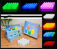 Wholesale Tea Light Candles Colors - Multi-Colors Flameless LED Tealight Tea Candle Wedding Bar Light Battery Lamp LLWA200