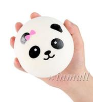 ingrosso fascino del telefono delle borse-10cm Kawaii Jumbo Squishy Carino Panda Charms Panini Cell Phone Charm Ciondolo borsa a tracolla