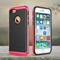Wholesale Iphone4 Slim Case - Motomo Carbon Fiber Slim Armor Case Smartphone Case For Apple iPhone4 5C 5G iPhone6 6S Plus 7 7 Plus Shockproof With Opp Bag