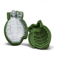 Wholesale grenade gift resale online - 3D Grenade Shape Ice Cube Mold Creative Silicone Ice Molds Kitchen Bar Tool gift Ice Cream Maker Trays Mold In Stock HH7