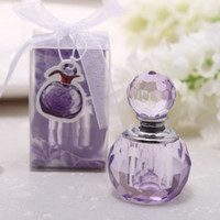 Wholesale Perfume Bottle Wedding Favors - Fashion Mini 3ML Crystal Perfume Bottle Empty Essential Oils Case For Lady Baby Shower Wedding Favors And Gifts ZA1359
