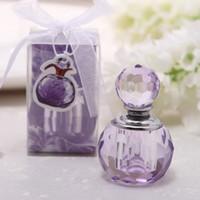 kristall-parfüm-flaschenöl großhandel-Mode Mini 3 ML Kristall Parfüm Flasche Leere Ätherische Öle Fall Für Dame Baby Shower Hochzeit Gefälligkeiten Und Geschenken ZA1359