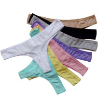coton de promotion achat en gros de-XL XXL XXXL Promotion Coton Sans Soudure Thong Sous-Vêtements Femmes G-String Sexy Crotchless Culotte Lingerie Intime Tanga Calcinha