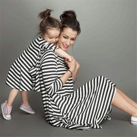 Wholesale Mother Dresses Clothes Plus - 2016 Women Long Sleeve Stripe Dress Womens Lady Striped Dresses Fashion Casual Spring Autumn Clothing for Mother Ladies Clothes Wholesale