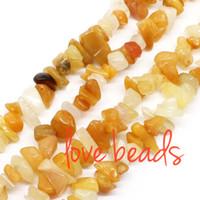 Wholesale Yellow Jade Beads Bracelet - 5mm-8mm Irregular Natural Topaz Yellow Jade Gravel Stone Loose Beads Material Stone Strand 80CM Diy Bracelets (F00385) jewelry making