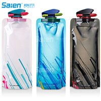 Wholesale Foldable Water Bottles Wholesale - 700ML Foldable Water Bottle , Flexible Collapsible Reusable Water Bottles for Hiking,Adventures, Traveling