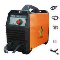 Wholesale Mig Welder Machine - Digital MIG welding machine 110v DC inverter MIG100 with full digital control mig welder gas gasless flux core wire welding machine