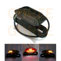 Wholesale Atv Holder - Motorcycle LED brake light Motorcycle ATV LED Turn Signal Tail Brake Light License Plate Holder 12V