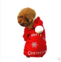 Wholesale Cheapest Dog Coats - CHEAPEST!! Christmas Pet Clothes Santa Claus Dog Clothes Costume Dress Winter Apparel Cotton&fleece Pet Dog Coat FREE SHIPPING