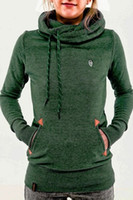 Wholesale Thin Sweatshirts For Women - 2016 New Women Hoodies Sweatshirt Casual Hooded Long Sleeve Pocket Design Embroidered Hoodie For Women Sweatshirts Woman