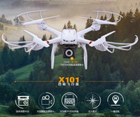 Wholesale Helicopter Mjx - Profession Drones MJX X101 Quadcopter 2.4G 6-Axis RC Helicopter with Gimbal with 720P C4008 FPV Wifi Camera HD VS SYMA X8C X600