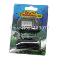 Wholesale Digital Lcd Display Thermometer - Newest Aquarium Tank Water Thermometer Mini Digital LCD Display Temperature Gauge Meter Big Discount Free Shipping