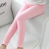Wholesale Korean Kid S Clothes - 2016 spring and summer children's clothing Korean children candy colored pencil wholesale girls Leggings kids