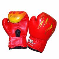 боксерские боксерские перчатки оптовых-Новый 1 пара Дети Боксерские Перчатки Мма Каратэ Guantes De Boxeo Kick Бокс Luva De Boxe Боксерское Оборудование Jumelle Boy 3 -12лет