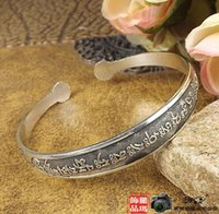 Wholesale Tibetan Silver Bezel - 2016 wholesale lowest womens ladies females pening Miao silver ethnic opening Tibetan silver bangles bracelets wristband free shipping