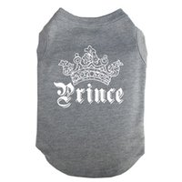 Wholesale Wholesale Printed Pet T Shirts - Free Shipping Prince Printed Pet Puppy Clothes Shirts Tee Clothes T Shirts for Summer for Small Medium Large