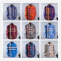 Wholesale Men S Korean Casual Shirt - Wholesale-New Arrival 2017 Spring Men Shirt Lattice Design Korean Style Casual Mens Plaid Shirts Man Long Sleeve 100% cotton dress shirts
