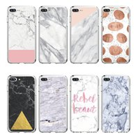 Wholesale Case Images - For iphone 5s 5 SE 6 6s 8 6 7 8 plus Granite Scrub Marble Stone image Painted Silicone Phone Case For iphone 7 case